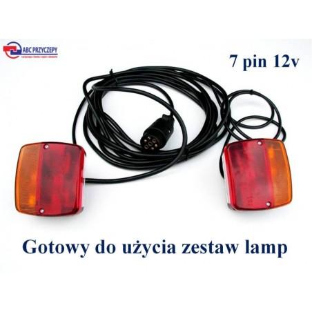 Zestaw lamp do przyczepy LZT 237 podłączony