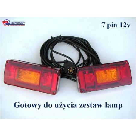 Zestaw lamp do przyczepy LZT 239 podłączony