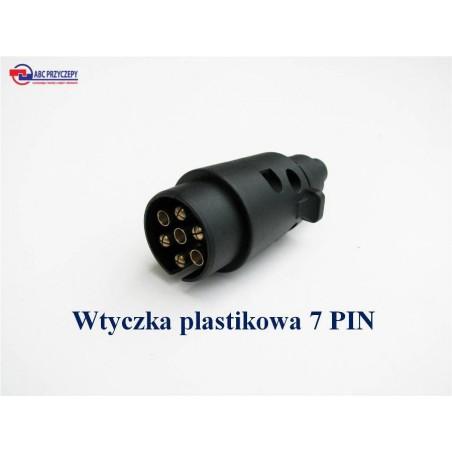 WTYCZKA PLASTIKOWA  SKRĘCANA 7 pin 12V GNIAZDO