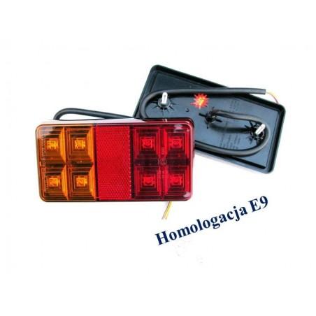 LAMPA ZESPOLONA LED 12V DO LAWETY LUB PRZYCZEPY SERIA 151