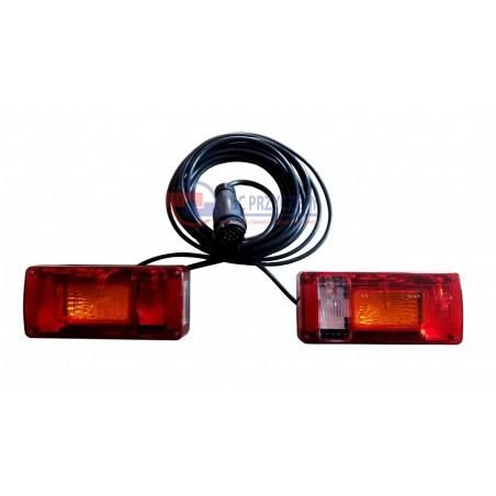 Zestaw lamp do przyczepy LZT 326 podłączony z lampą cofania