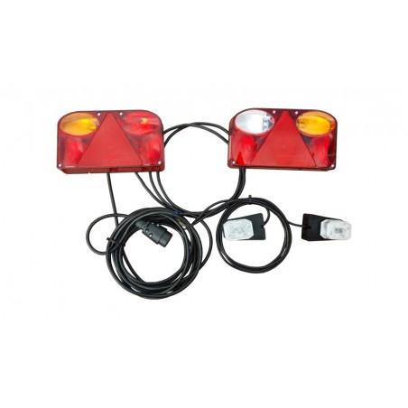 Lampy zespolone prostokątne FRISTOM gotowe do podłączenia 12V