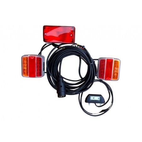 Lampy zespolone LED prostokątne z lampą przeciwmgłową i podświetlenia tablicy rejestracyjnej gotowe do podłączenia 12 - 24V