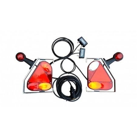 Zestaw oświetleniowy do przyczepy przyczepki podłączony lampy zespolone w ramce 12V