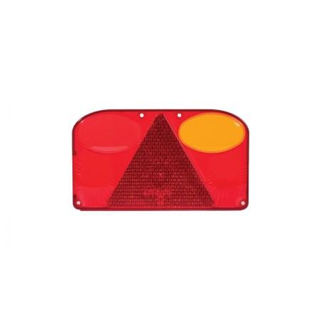 Klosz lampy  tylnej prawej z trójkątem odblaskowym FT-088 PPM ze światłem przeciwmgłowym