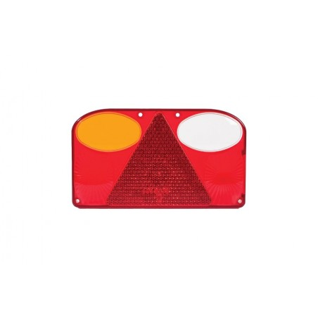 Klosz lampy tylnej lewej z trójkątem odblaskowym FT-088 LCOF ze światłem cofania