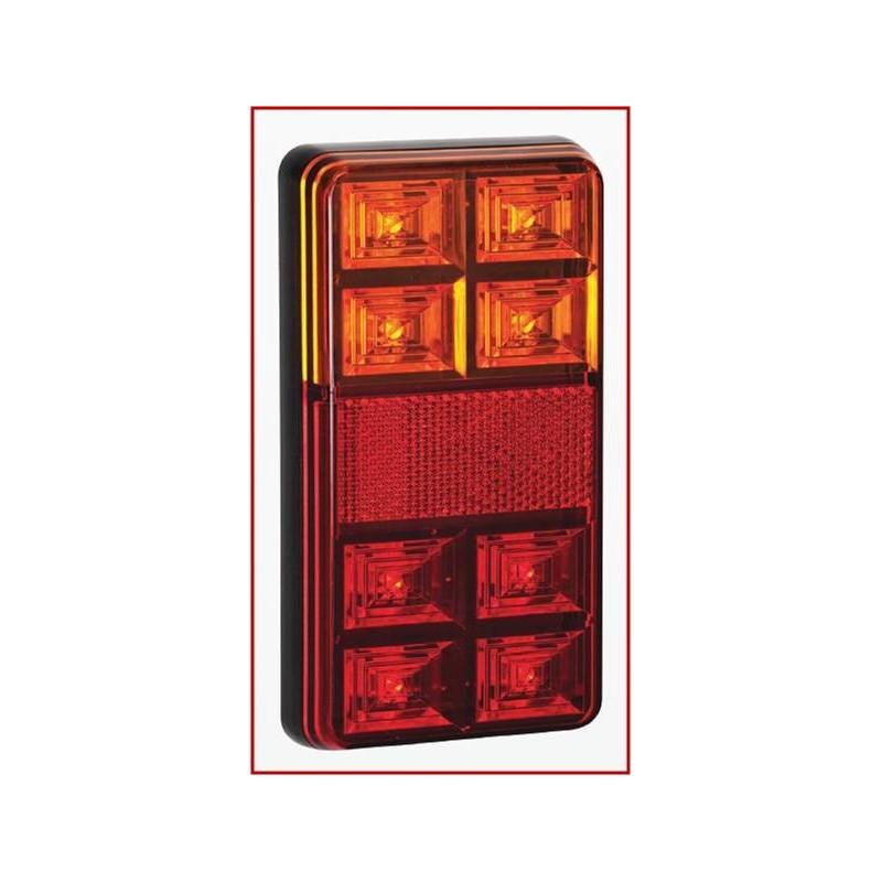 LAMPY ZESPOLONE LED 12V DO LAWETY LUB PRZYCZEPY SERIA 151