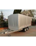 Przyczepy dwuosiowe hamowane platformy DMC: od 1400 DO 3500 kg