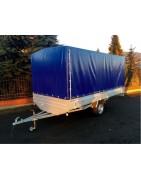 Przyczepy lekkie jednoosiowe platformy DMC: od 400 DO 750 kg